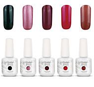 Gelpolish Nail Art Soak Off UV Nail Gel Polish Color Gel Manicure Kit 5 Colors Set S131