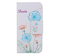 2015 The Newest Painted Dandelion Series Dandelion Floor PU Soft Case for iPhone 6