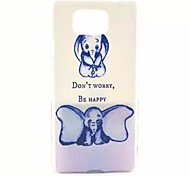 Big Ears Elephant Pattern PC Material Phone Case for Samsung Galaxy Alpha G850F