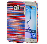 Magic Spider®Baby Blue National Wind Textile Coated PC Case with Screen Protector for Samsung Galaxy S6