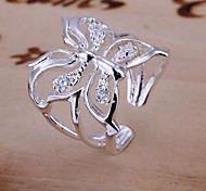 Hollow Butterfly 925 Silver Statement Rings Wedding/Party/Daily/Casual/Sports 1pc