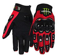 Motorcycle Anti-skidding Protective Gloves Full Finger/ Leisure Sports /Polyester/ Cloth/Soft Leather Red/Black/Blue