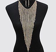Fashion Necklace Sexy Shoulder Body Chain With Earring Body Jewelry