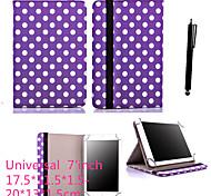 karzea® 7inch universale sacchetto filtro di cuoio dell'unità di elaborazione con il basamento e lo stilo per 7 'google / asus / tablet