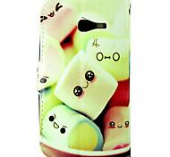 Funda protectora de algodón de azúcar de la PU de cuero de cuerpo completo cartera con ranura para tarjeta para Samsung Galaxy Lite