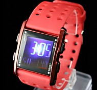 Women's Fashion Plastic Band Digital Watch
