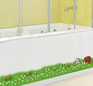 etiquetas removíveis ambientais pvc linha de canto verde&adesivo