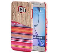 enduit style textile nationale du vent le cas modèle en bois pc magie avec protecteur d'écran pour Samsung Galaxy S6