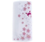 Butterflies Pattern TPU Hard Back Cover Case for LG G4