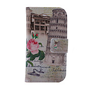 Fashion Pattern Design Pu Leather And The Card Slot Cell Phone Holster For Samsung Galaxy S5 Mini