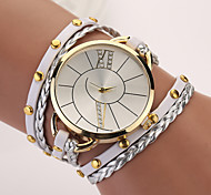 New Hot Women Dress Watches High-Quality Women's Punk Retro Leather Strap Bracelet Laminated Quartz Hot Sale
