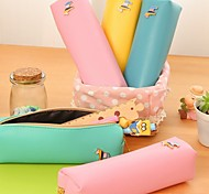 Lovely Coriaceous Pencil Bag box of Pencil Case (Random Color)