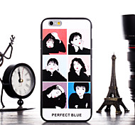 Perfect Blue Pattern Frame Back Cover for iPhone 6