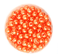 Beadia 64g(Approx 300Pcs)  ABS Pearl Beads 8mm Round Ornage Color Plastic Loose Beads DIY Accessories