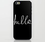 привет черный узор жесткий футляр для Iphone 6