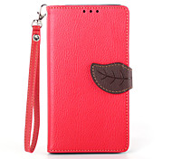 Deluxe Litchi Leaves Wallet Leather Flip Tpu Case For Sony Z2 Wallet Handbag + Lanyard