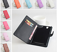 Protective PU Leather Magnetic Vertical Flip Case for Sony Xperia T2(Assorted Colors)