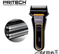 cuchilla de afeitar de doble cuchilla de afeitar eléctrica profesional de depilación recargable para el hombre