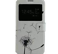 motif de pissenlit cuir PU étui de téléphone portable pour Samsung Galaxy j7
