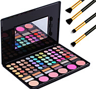 78 Colors Pro Cosmetic Makeup Pigment Kit Eye Shadow Blush Palette +4PCS Pencil Makeup Brush