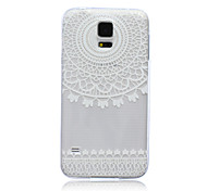 White Flower Pattern Ultrathin TPU Soft Back Cover Case for Samsung Galaxy S5 I9600