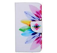 Sonnenblumenmuster PU-Leder-Tasche für Samsung Galaxy s6 Rand