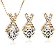 Z&X® Alloy Cross Zircon Jewelry Set Party/Daily 1set(Including Necklaces/Earrings)