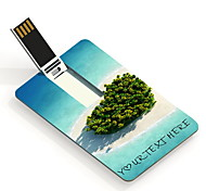 usb personnalisé coeur du lecteur flash mer conception carte 8gb lecteur flash USB