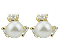 New Coming Fake Women Latest Design Of Pearl Earrings