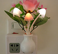 Rose Led Color Light Control Sensor Night Light Wall Lamp
