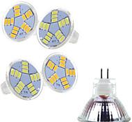 Focos Ding Yao MR11 7 W 15 SMD 5730 400-500 LM 2800-3500/6000-6500 K Blanco Cálido/Blanco Fresco AC 12 V 5 piezas