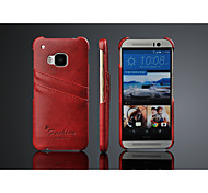 For HTC Case Card Holder Case Back Cover Case Solid Color Hard PU Leather HTC