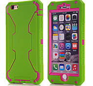 2015 new for iPhone6 three in one robot shell (green silicone + Red PC)