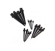 16pcs Silicon Ear Tunnel Gauges Fake Stretcher Taper Cheater Acrylic 1-10mm