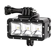 suptig 30m 3-режимы привели водонепроницаемый видео заполняющий свет дайвинг огни, установленные для GoPro hero4 / 3 + / 3/2 - черный