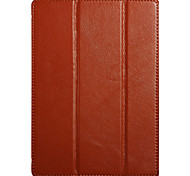 Genuine Leather Full Body Case And Folding Case And Flip Up And Down And Lichee Pattern For Apple ipad air2 9.7 Inch