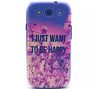 Happy Pattern PC Hard Case for Samsung S3 I9300