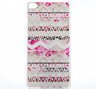 Pink Decoration Pattern of Transparent Frosted PC Material Phone Case for Huawei P8
