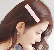 European Style Fashion Small Fresh Handmade Double Leather Bow Hairpin