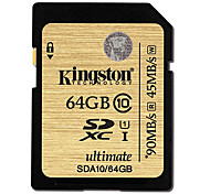 Kingston Digital 64GB SDXC Class 10 UHS-I Ultimate Flash Memory Card SDA10/64GB