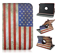 8-Zoll-360-Grad-Drehung Flagge Muster Standplatzfall für Samsung Galaxy Tab 8.0 einen SM-T350 / T351