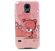 Cute little Bear  Pattern TPU Soft Case for Samsung Galaxy S5 I9600