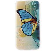 blu modello di farfalla materiale TPU soft phone per mini galassia s5