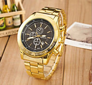 Men's Fashion Sport Quartz  Steel Belt Gold Watch(Assorted Colors) Wrist Watch Cool Watch Unique Watch
