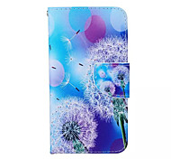 Campanula Pattern PU Leather Phone Case For Samsung  Galaxy A5