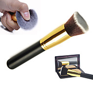 M0252 1PCS Gold Tube Black Handle Big Slanting Head Multifunction Brush