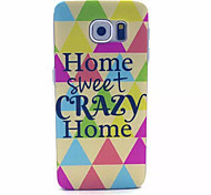 Happy Home Pattern PC Hard Case for Samsung Galaxy S6