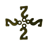 beadia 100pcs bronzo antico numero lega incanta 7x15mm 2 pendenti accessori fai da te