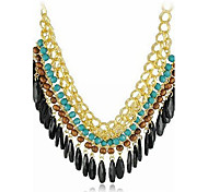 Women's Statement Necklaces Alloy Drop Bohemian Orange Green Pink Jewelry