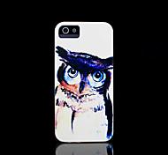 coruja capa padrão para iphone 4 / iphone 4 s caso